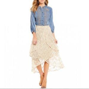 REBA American Prairie Cottagecore Layered Skirt
